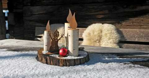 Winter decoration in the holiday home