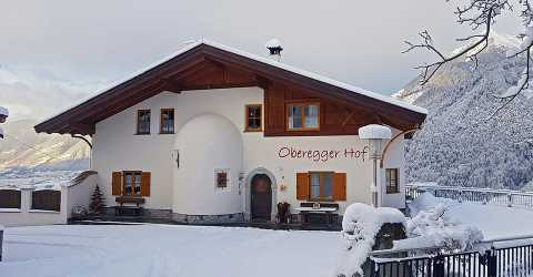 Apartment Obereggerhof in wintertime